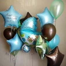 Пример Оформления воздушными шарами на выписку №43