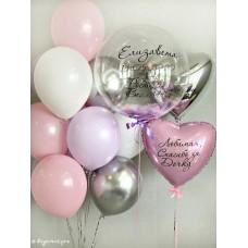 Пример Оформления воздушными шарами на выписку №46