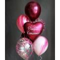 Фонтан из воздушных шаров №5