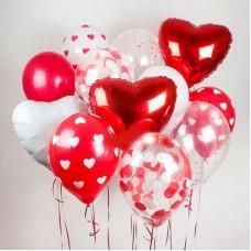 """Сет из воздушных шаров """"Сердечный"""""""