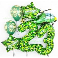 """Фотозона из воздушных шаров """"23 февраля"""" №6"""
