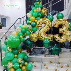 """Фотозона из воздушных шаров """"23 февраля"""" №3"""