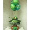 Пример Оформления воздушными шарами в День Защитника Отечества Фонтан №8