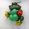 Пример Оформления воздушными шарами в День Защитника Отечества Фонтан №6