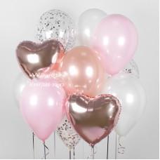 """Набор из воздушных шаров """"Розовое золото"""""""