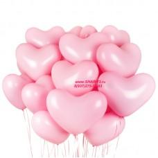 """Облако из шаров """"Сердечки розовые"""""""