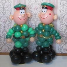 """Фигура из воздушных шаров -""""Солдатик"""" пример 2"""