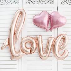 """Надпись """"Love"""", Розовое Золото"""