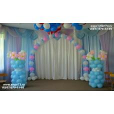 Пример оформления воздушными шарами в детском саду №3