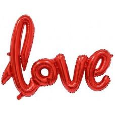 """Надпись """"Love"""", Красная прописью"""
