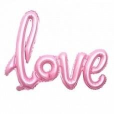 """Надпись """"Love"""", Розовая прописью"""