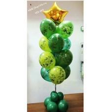 Пример Оформления воздушными шарами в День Защитника Отечества Фонтан №2